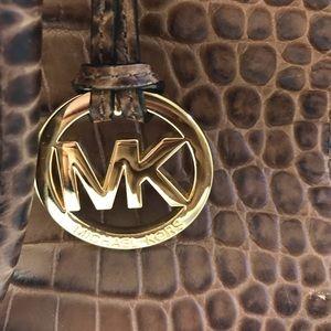 MICHAEL Michael Kors Bags - Micheal Kors crocodile satchel brown walnut
